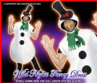 CHRISTMAS FANCY DRESS # DELUXE ADULT SNOWMAN MED